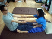 Massage lesson in our school 6